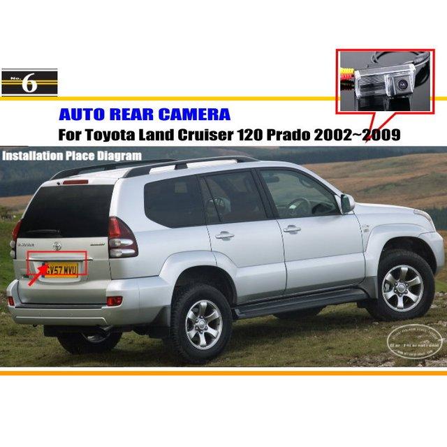 License Plate Light OEM / HD CCD Night Vision / Car Rear Camera / Reverse Camera For Toyota Land Cruiser 120 Prado 2002~2009