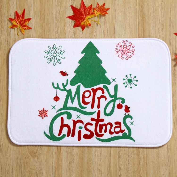 Snowman Happy Holidays Holiday Welcome Mat Outdoor Indoor
