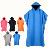 d54ae5ee8ac9 109X80cm Quick Drying Bathrobes For Men Women Microfiber Cape Cloak  Swimming Robe Hooded Change Clothes Bath