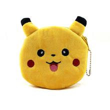 10cm Novelty 1Piece Pikachullin Plush Dolls Coin Pocket Headset Bag CAT Keychain DOLL TOY Stuffed BAG Pendant
