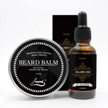 Men Moustache Cream Beard Oil Kit for Men-Beard Care Gift Set Natural Ingredients Mustache Moisturizing Wax