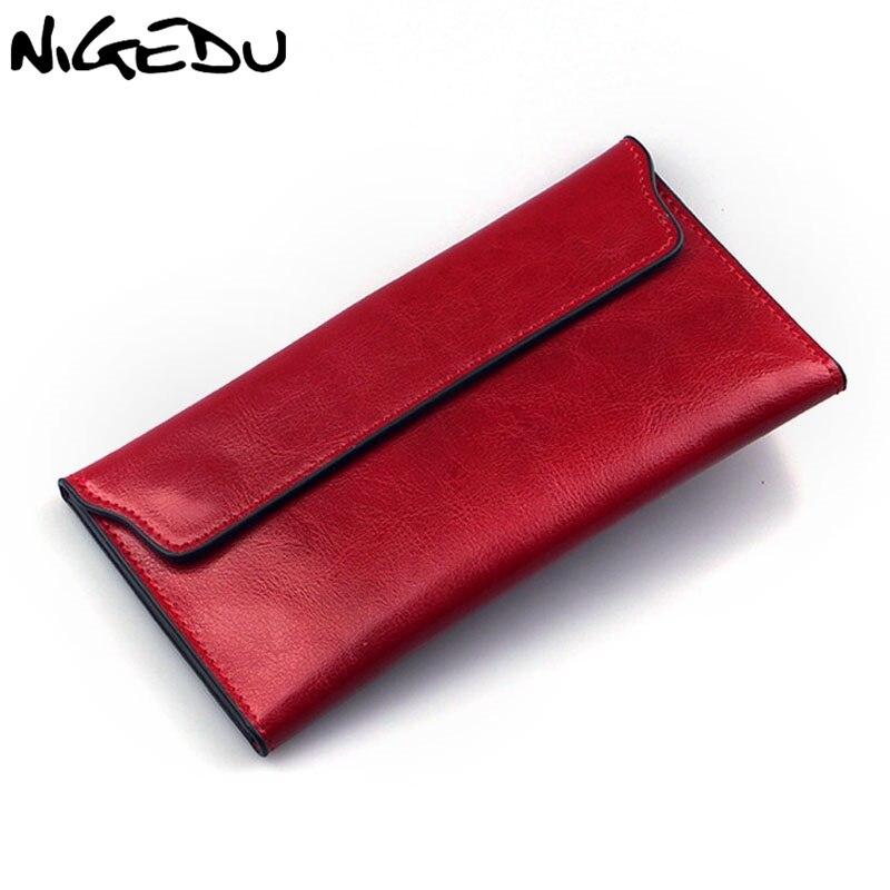 NIGEDU Brand Genuine Leather Women