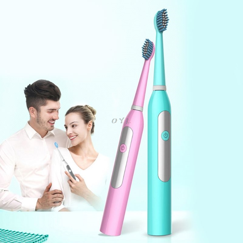 Adult Electric Toothbrush Sonic Timer Battery Powered Brush Head Replacement Waterproof HomeAdult Electric Toothbrush Sonic Timer Battery Powered Brush Head Replacement Waterproof Home