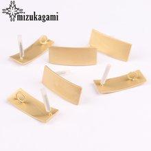 Цинковый сплав золотые геометрические прямоугольные серьги Базовые