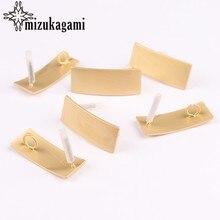Zink-legierung Goldene Geometrische Rechteck Ohrringe Basis Anschlüsse 10X26mm 6 teile/los Für DIY Schmuck Ohrringe, Der Zubehör