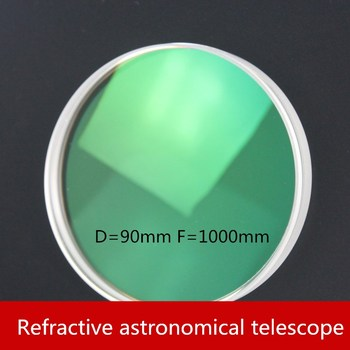 Refraction type Astronomical telescope Double separation Objective lens D = 90mm F = 1000mm Multilayer Broadband Film