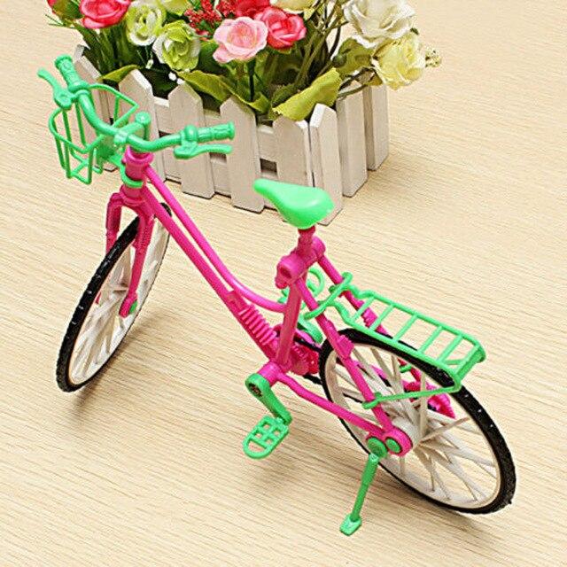 2016 Модные Красивые Прокат Съемный Велосипедов и Корзины Игрушка Аксессуары Для Куклы Барби Аксессуары