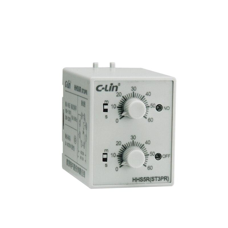 HHS5R Electronics Type Time Relay ST3PR 60S/60M AC110V/AC220V genuine taiwan research anv time relay ah2 yb ac220v