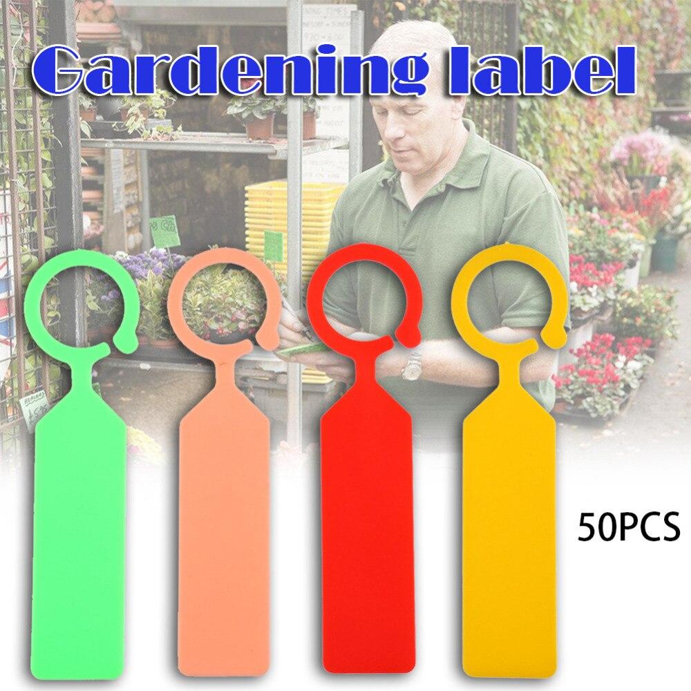 Plant 50 Pcs Ring Labels Plastic Nursery Pot Garden Flower Thick Tag Marker Plants Labels Garden Decoration Ornaments