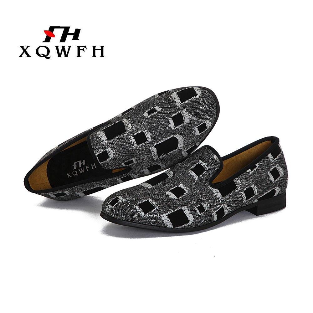Los zapatos de los hombres Multicolor Print camuflaje mocasines nueva llegada brillante mocasines estilo británico Footwer-in Mocasines from zapatos    1