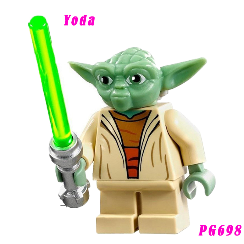 Yoda With Lightsaber 75021 Action Figure Star Wars The Clone Wars Building Blocks Toys For Children Pg698 Single Sale
