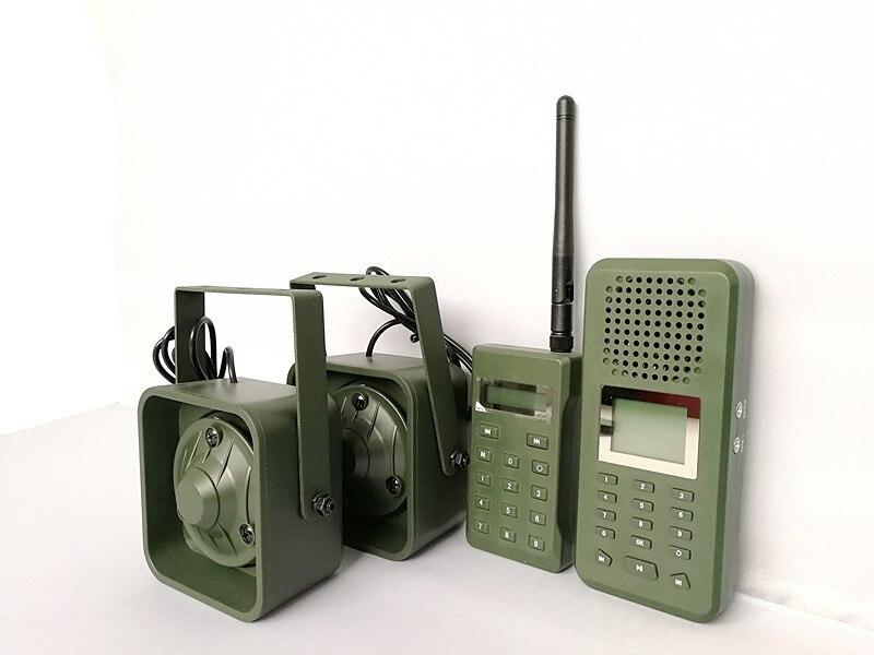 PDDHKK leurre oie canard prédateur faune chasse leurre électrique MP3 haut-parleur 200 sons 300-500 mètres Kit de contrôle à distance