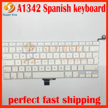 5pcs/lot 13.3 inch For Apple Macbook A1342 Spanish Keyboard ES SP Keyboard Layout Replacement