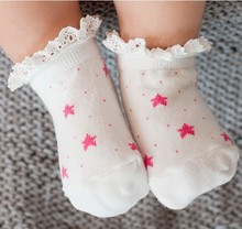 1 Pairs Baby Cartoon Cotton Socks Star NewBorn Infant Toddler Kids Soft Sock Comfortable Boy Girl Ankle Socks For 0-3 calcetines
