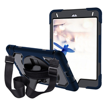 Miesherk for iPad Mini 5 / 4 Case Military Grade Drop Test  with Hand Strap Kickstand and Shoulder (Blue)
