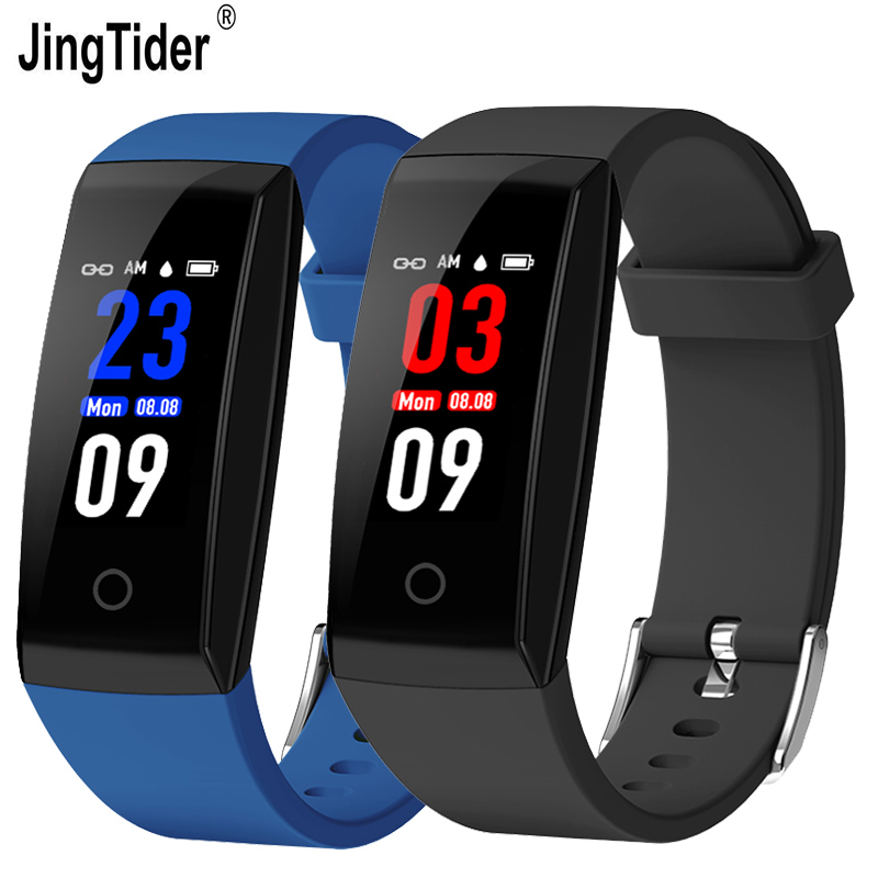 JingTider Color Screen Bluetooth Smart Band W8 Smart Bracelet Heart Rate Monitor Fitness Tracker Waterproof IP67 For Android IOS