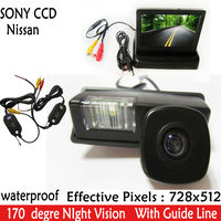 SONY CCD Parking Monitors,Car Rear View Camera With 4.3 inch Car Rearview Mirror Monitorr For Nissan Cefiro Tiida Teana Paladin
