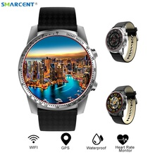 New 3G KW99 Android 5.1 Bluetooth Smart Watch MTK6580 8GB SIM WIFI Phone GPS Heart Rate Monitor Wearable Devices