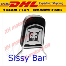 motorcycle parts Skull Backrest Sissy Bar for Suzuki  Boulevard M50 C50 C50T Intruder Marauder