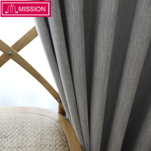 MISSION Faux Linen Window Blackout Curtain Thermal Insulated Drapes Noise Blocking Curtains Blinds for Bedroom Living Room norne hollow star thermal insulated blackout curtains for living room bedroom window curtain blinds stitched with white voile