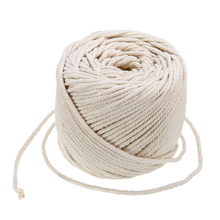 4mmx110m Natural Beige Soft Cotton Twisted Cord Craft Macrame Rope Artisan String DIY Handmade Tying Thread Cord Rope