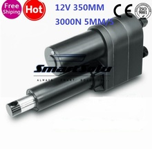 Free 12V 350mm stroke 3000N micro linear actuator electric linear actuator TV lift high speed linear