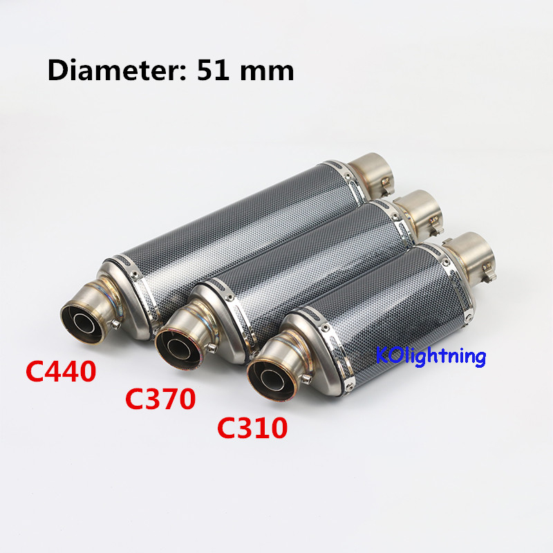 Universal Motorcycle Scooter ATV Exhaust Muffler Pipe with Removable DB Killer For Spring NK150 Honda PCX125 PCX150