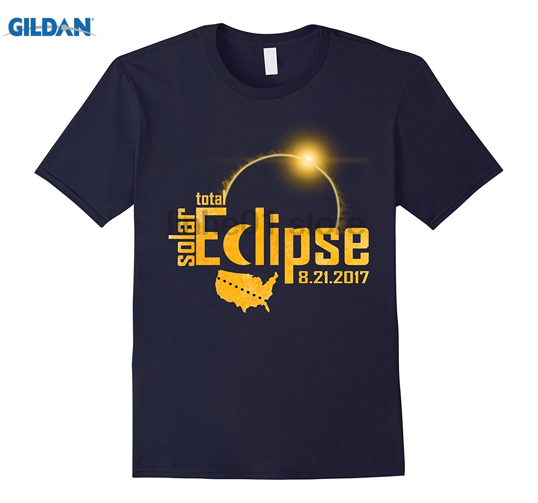 GILDAN Total Solar Eclipse August 21 2017 Astronomy T-Shirt sunglasses women T-shirt