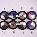 Concealer Palette Makeup Contour Professional 1pcs 3 color Cream Camouflage Concealer  Full Size glitter with mirror