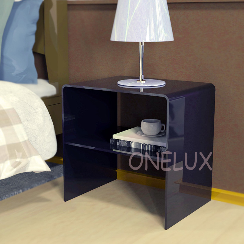 Acrylic bedside nightstand with additional shelf,Lucite occasional sofa tables - 40W 33D 42H CM free shipping shelf clear acrylic lucite bedside table plexiglass nightstand