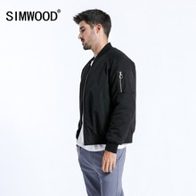SIMWOOD Brand Short Jacket Men 2019 Winter Fashion Thick Coats Bomber Jacket Slim Plus Size Outerwear jaqueta masculina 180557