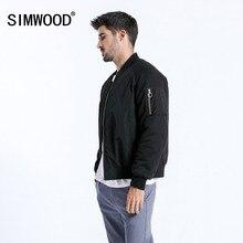 SIMWOOD Merk Korte Jas Mannen 2019 Winter Mode Dikke Jassen Bomberjack Slanke Plus Size Bovenkleding jaqueta masculina 180557