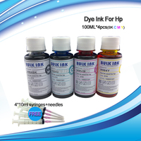 Universal 4 100ml Dye Ink For HP Ciss And Cartridges With Printerhead Universal Bottled Ink Refill