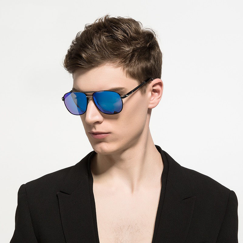Steampunk Goggles Men Carter Square Sunglasses Polarized Male Oversized Sun Glasses Luxury Brand Driver Fishing Eyewear