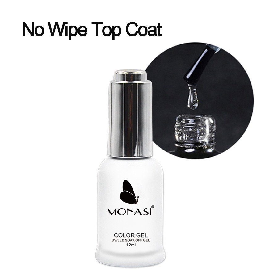 12ML Top Coat Without Sticky Layer UV Gel Transparent Vernis Semi Permanent Soak Off Long-lasting Enamel Unhas De Gel