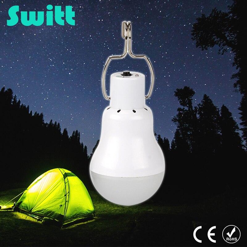 Switt 15w Solar Powered Portable Led Bulb Lamp Solar Energy lamp led lighting solar panel light Energy Solar Camping Light