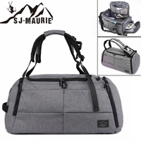 SJ Maurie Men Training Bag Sport Fitness Gym Bag Shoe Compartment Outdoor Travel Boarding Tote Bag Backpack