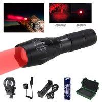 Hohe Lumen Zoomable Pistole Gun Licht Grün/Rot Q5 jagd unter barrel Taschenlampe + Montieren + 18650 + pessure Schalter + usb ladegerät + box-in Waffenlichter aus Sport und Unterhaltung bei