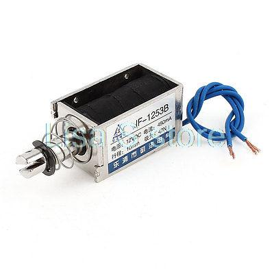 JF-1253B DC 12V 42N 10mm Pull Push Open Frame Wired Electromagnetic Linear Solenoid основание промтекс ориент а1 160x200