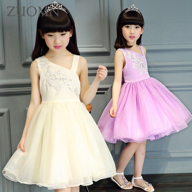 02804cd23 طفل الفتيات فساتين الاطفال توتو الكروشيه الدانتيل اللباس أكمام حمالة  الأميرة فساتين للفتيات الزفاف الأطفال الملابس GH342