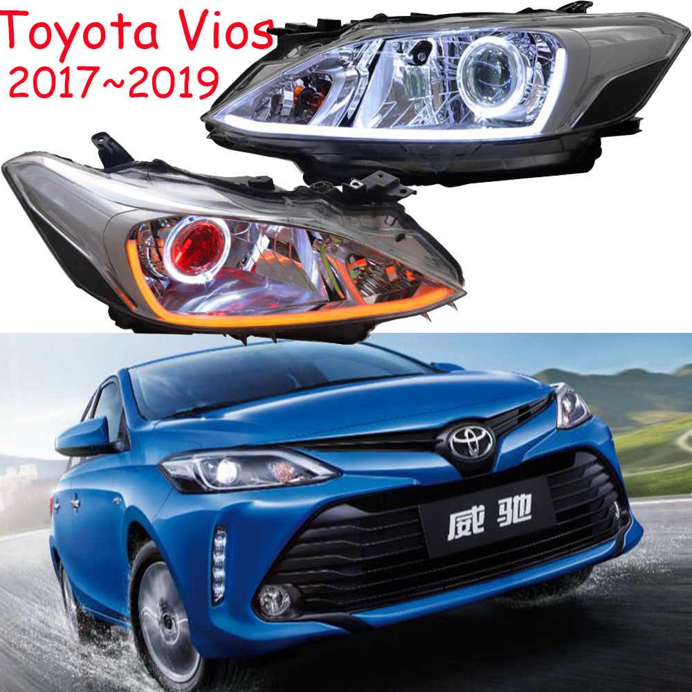 2pcs Bumper Lamp For Vios Headlight 2017 2019year Car Accessories Head Lamp Drl Running Lights Bi Xenon Fog Lights Angel Eyes Car Light Assembly Aliexpress