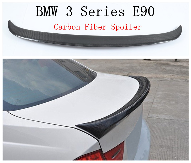 Auto Carbon Fiber Spoiler For BMW 3 Series E90 318 320 325 330 335 2005-2012 Rear Trunk Spoilers High Quality Car Accessories image