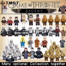 Single Game of Thrones Legoings Eddard Stark Jon Snow Spear Sword Infantry Jory Ice and Fire Building Blocks Toys For Children(China)