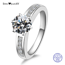 цена на ShiPei 100% 925 Sterling Silver Ring Fine Jewelry 2ct Moissanite Engagement Wedding Ring For Women Female Anniversary Gift