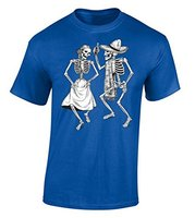 Fashion Tees Dancing Skeletons T Shirt Day Of The Dead Women S Crew Neck Short Sleeve