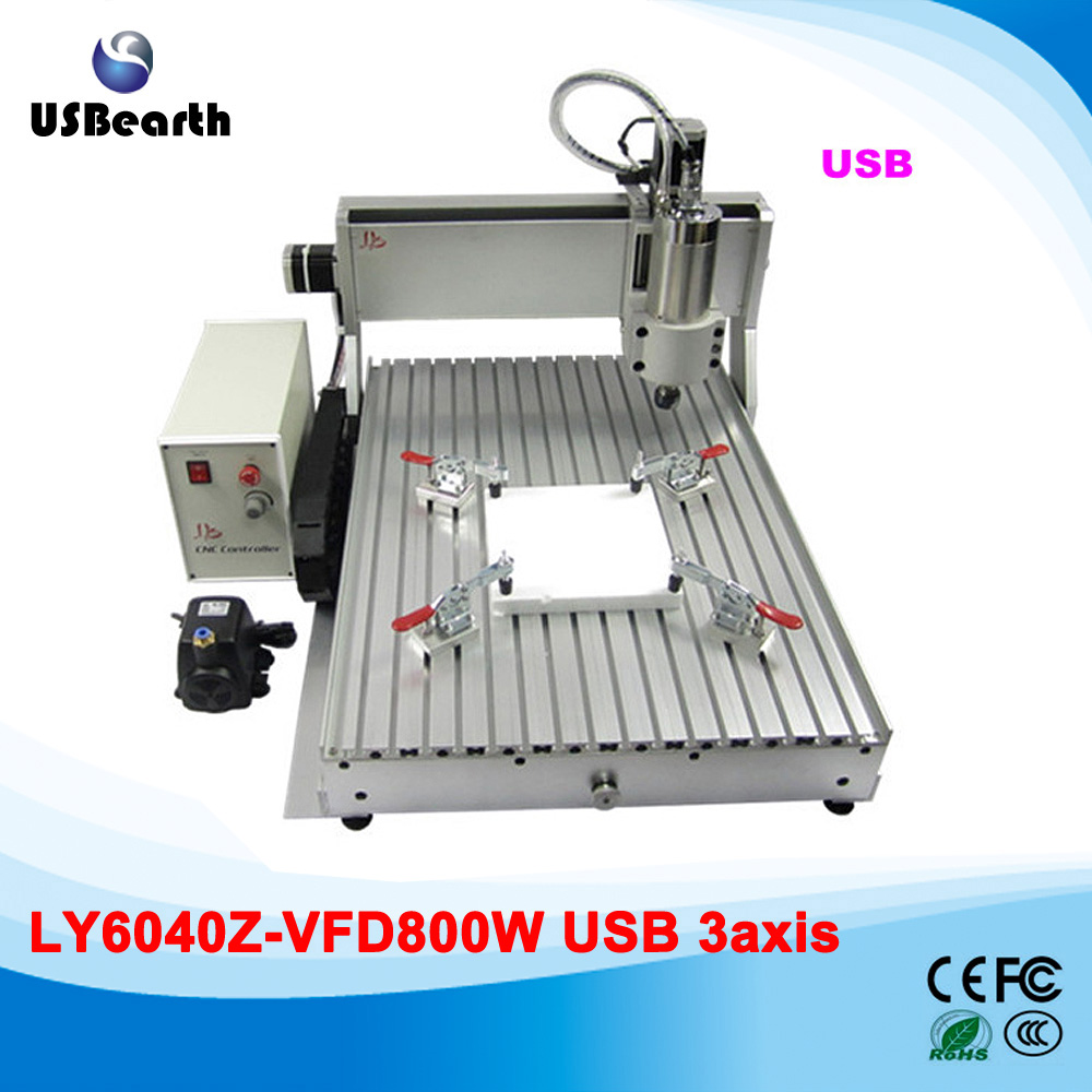 800W USB port CNC router 6040 Metal cutting machine for hard material 2016 newest cnc router 3040z dq usb port cnc cutting machine cnc engrave machine