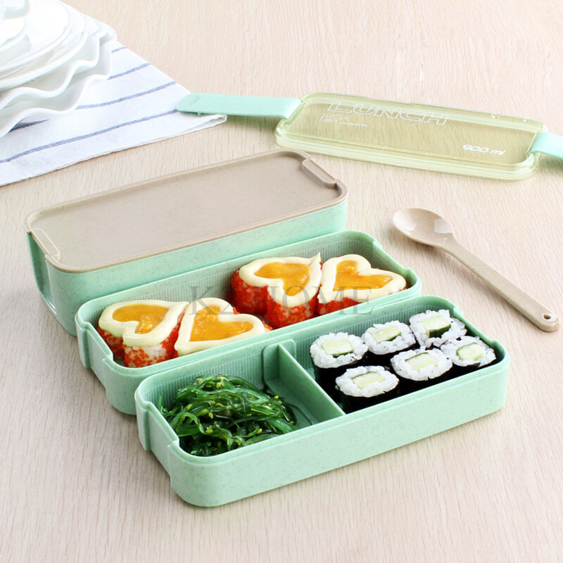 Triple Layers Lunch Bento Box Leakproof Food Storage Container Meal