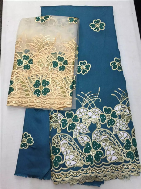 LJ22Khigh class hole design george lace fabric indian george wrappers african raw silk george lace fabric