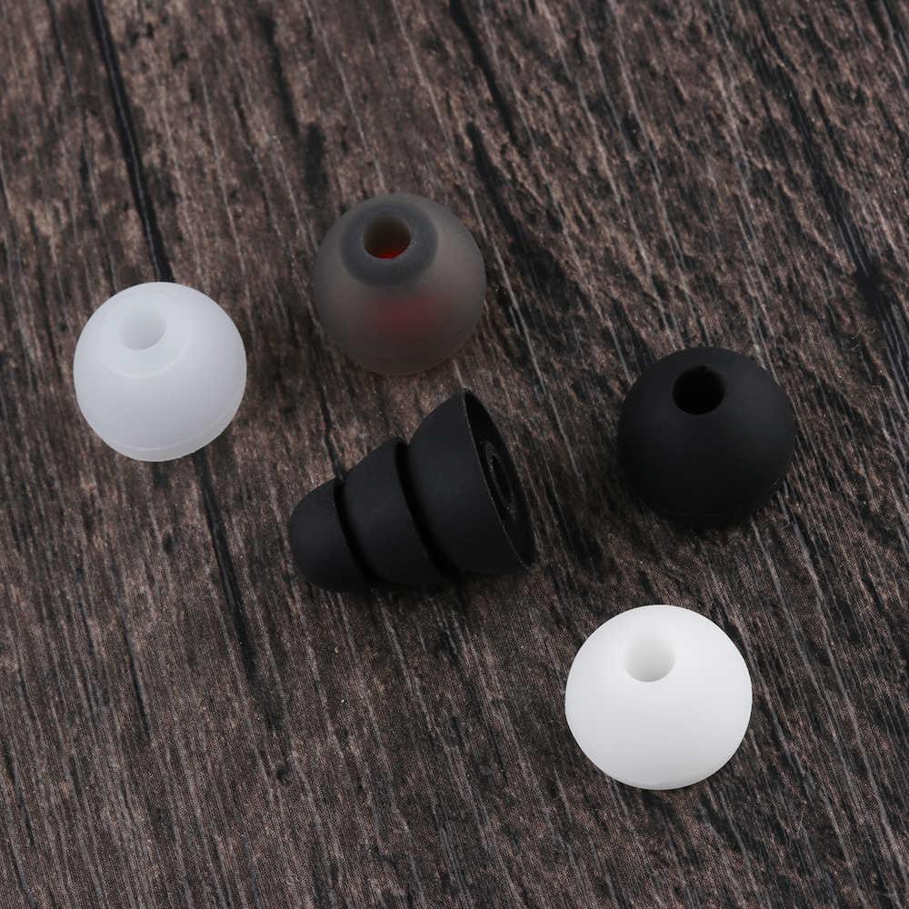 1 زوج جديد سيليكون 4 مللي متر استبدال في الأذن سماعة الأذن نصائح غطاء غطاء لينة المطاط العالمي استبدال الأذن نصائح