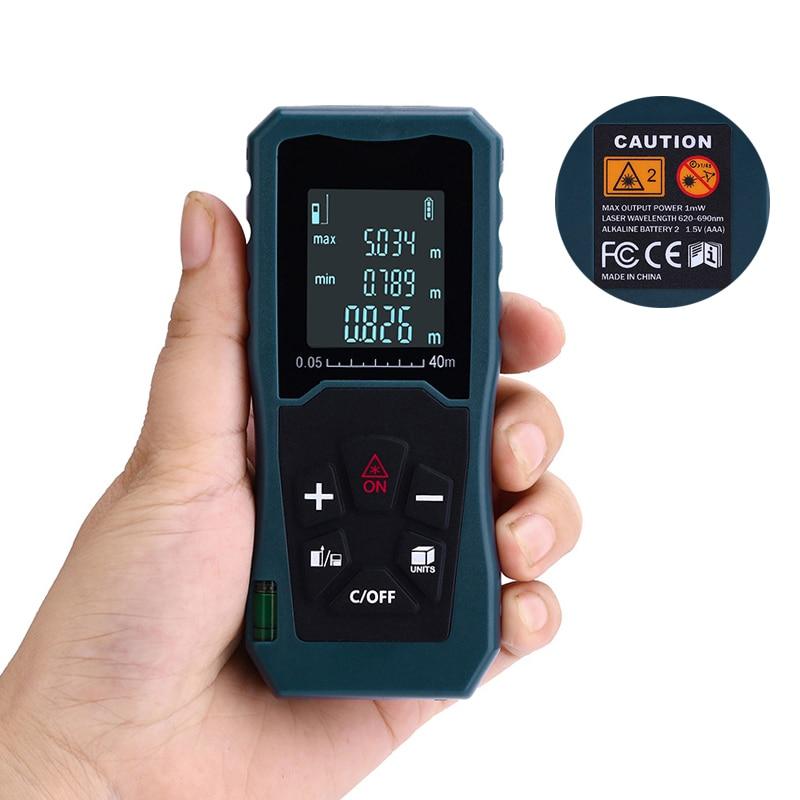 40-100M Laser Distance Meter Electronic Digital Trena Rangefinder Measure Tape Range Finder Intergrate Bubble Lever Data Storage portable d100 100m electronic digital laser power tape measure